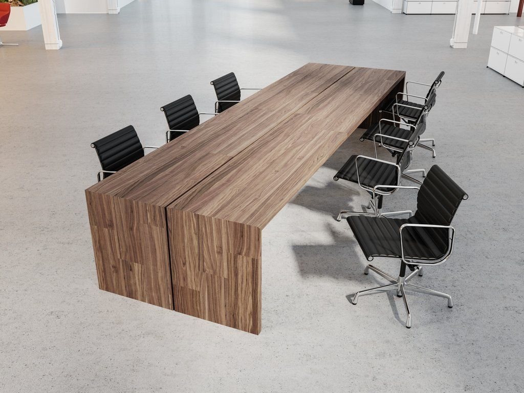 waterfall conference table  Conference table design, Office