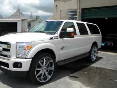 2013 Ford Excursion Super Duty Rolling On 28s HD  YouTube