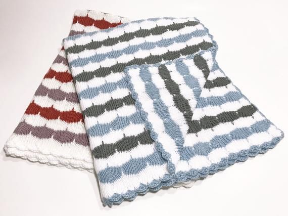 Photo of Blanket for Baby Girl and Blanket for Baby Boy Swaddle Blanket Baby Crochet Baby Crib Blanket Knit Baby Blanket Striped Swaddle Blanket Girl