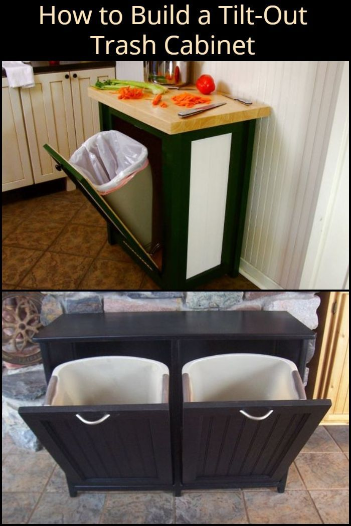Hide Your Trash Bin By Building A Tilt Out Trash Cabinet Trash