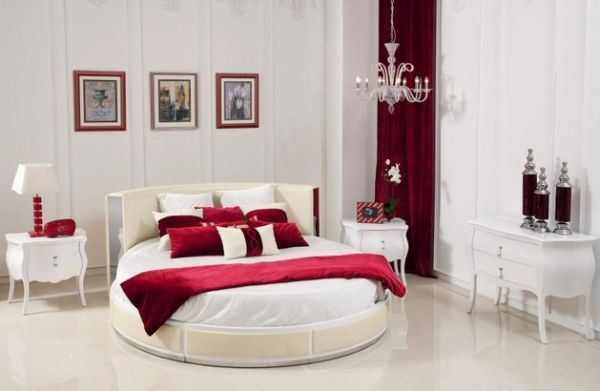 Modern Bedroom Red 27+ round beds design ideas to spice up your bedroom | circle bed