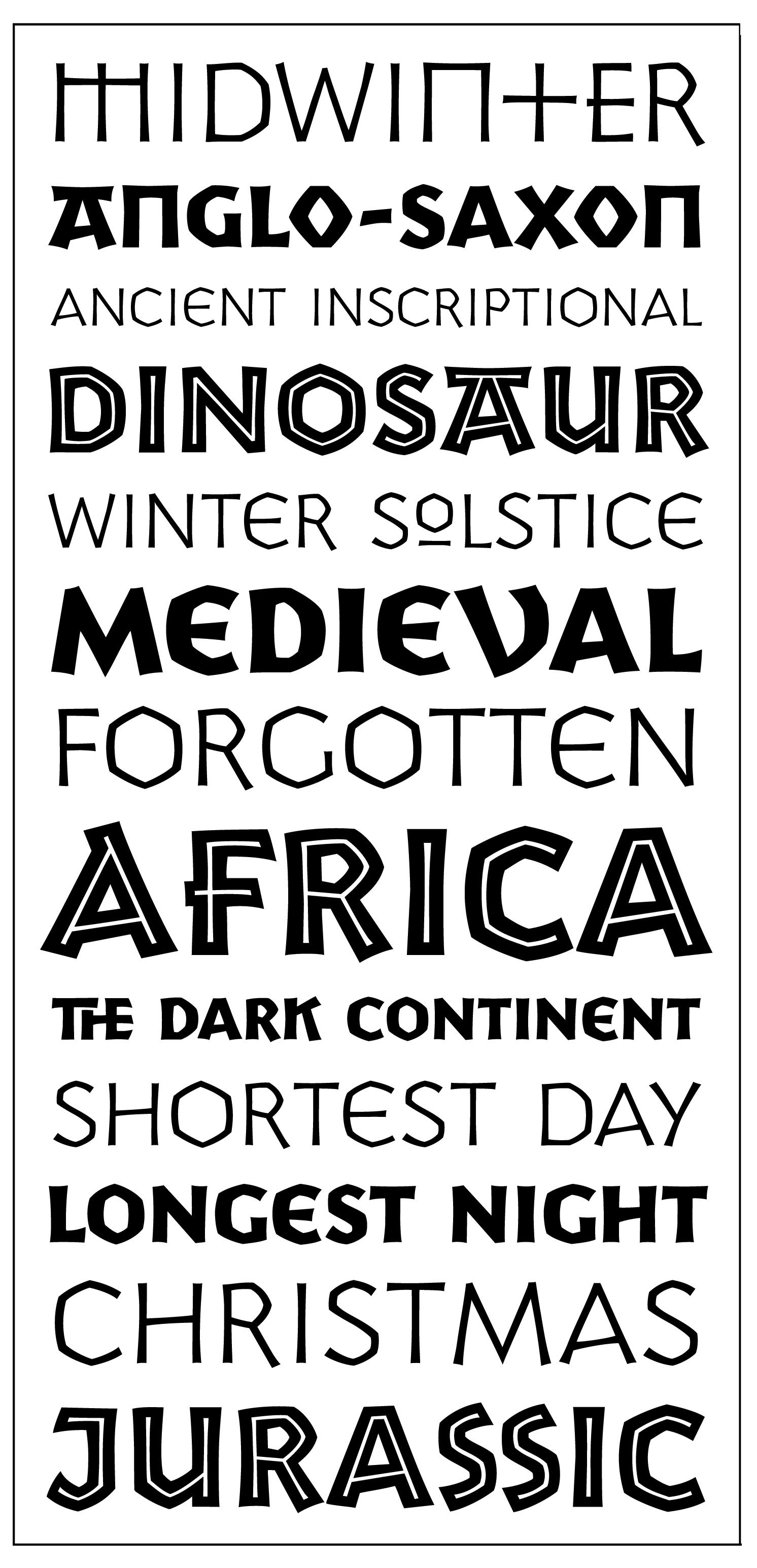 Yule Font Specimen P22 Is A Display Inspired By Melange Of Ancient Inscriptional Writing With Visual References To Anglo Saxon Celtic