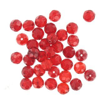 Hobbycraft Crystal Round Faceted Hole 2 Mm Beads Red | Hobbycraft
