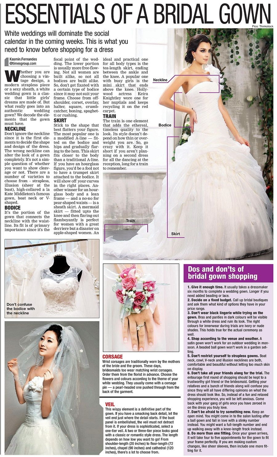 Essentials of a bridal gown november bombay times