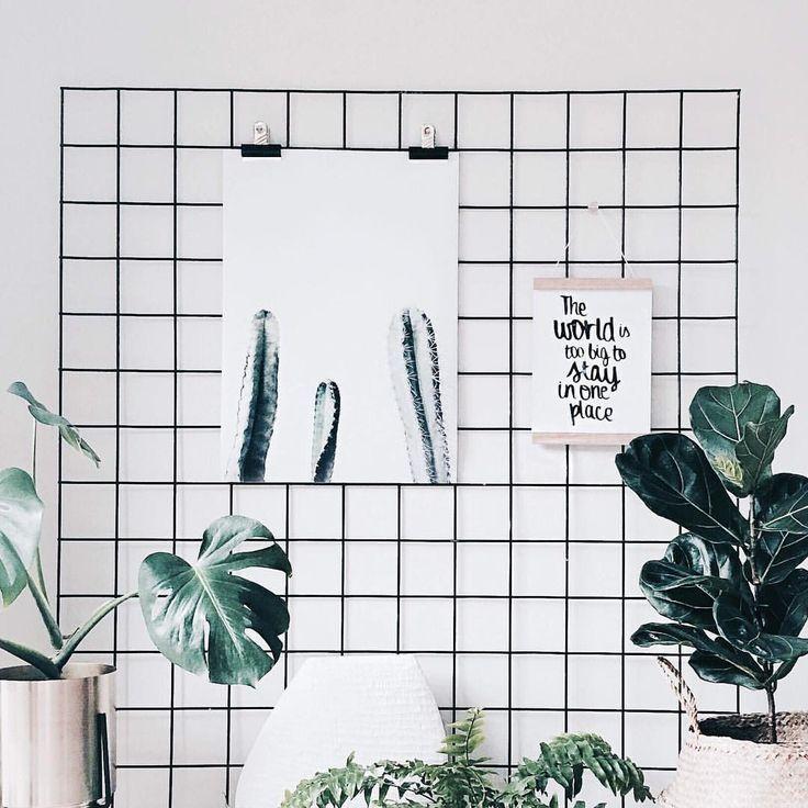 urban jungle memo board in scandinavische stijl | wiremesh