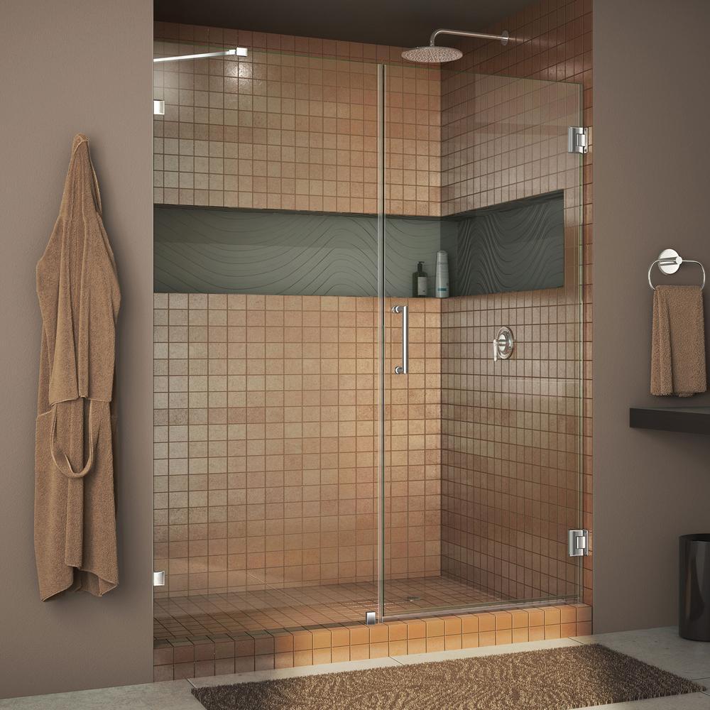 Dreamline Unidoor Lux 53 In X 72 In Frameless Hinged Shower Door