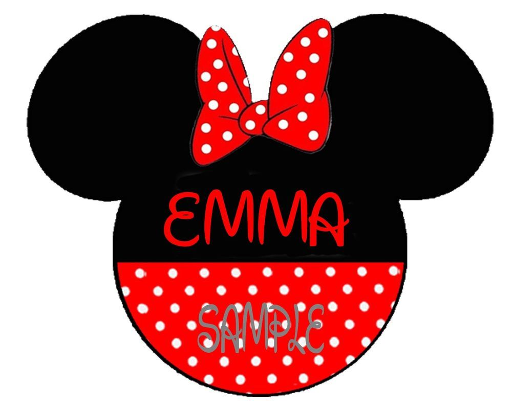 Design your own t-shirt iron on transfer - Disney Family Vacation Minnie Mouse Personalized Fabric T Shirt Iron On Transfer
