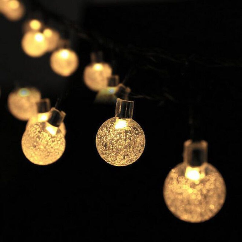 20 LEDs Solar Powered Christmas Wedding Party Outdoor Bubble Lamps