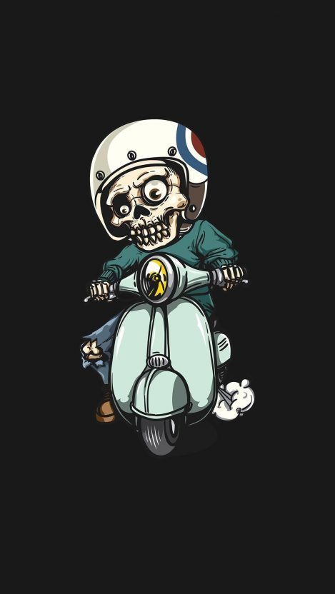 Zombie On Scooter Iphone Wallpaper Graffiti Seni Jalanan Seni