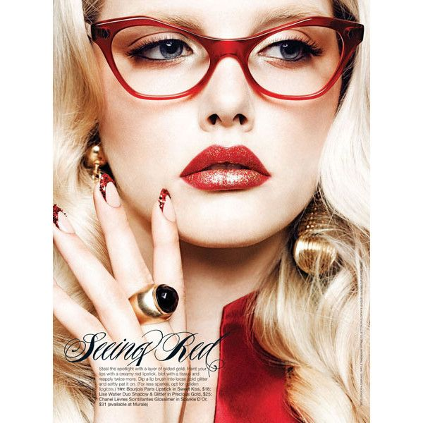 GLOW December2011 -Scarlet Fever-Photography by Chris Nicholls-5 –... ❤ liked on Polyvore featuring models