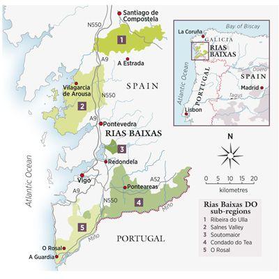 Mapa De Rias Bajas.Rias Baixas Grows Up Con Imagenes Vinos A Coruna Santiago De Compostela