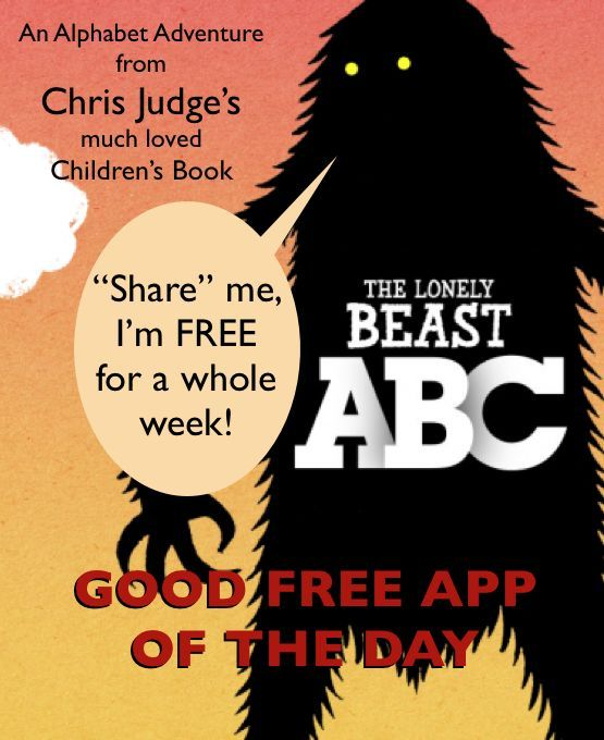 Free App of the Day The Lonely Beast ABC (normally 2.99