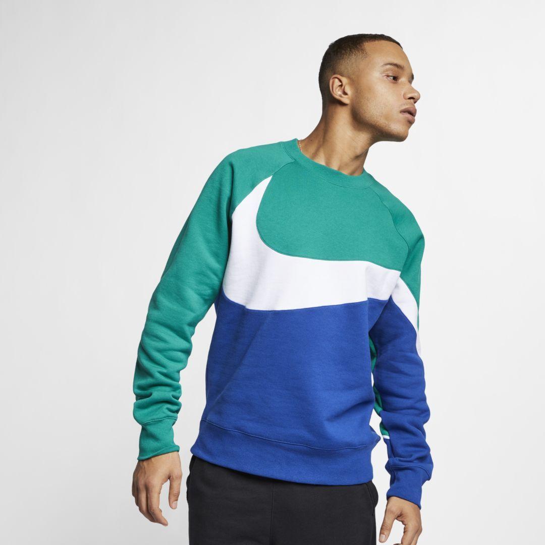 Nike Sportswear Men S Crew Size M Mystic Green Nike Sportswear Mens Mens Sweatshirts Long Sleeve Tshirt Men [ 1080 x 1080 Pixel ]