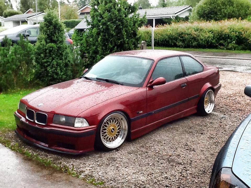 Calypsorot Bmw E36 Coupe On Fantastic 17 Bbs Rs Cult Wheels