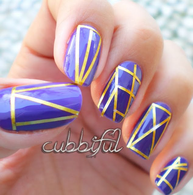 cubbiful: Nail Fail Starring Le Striping Tape