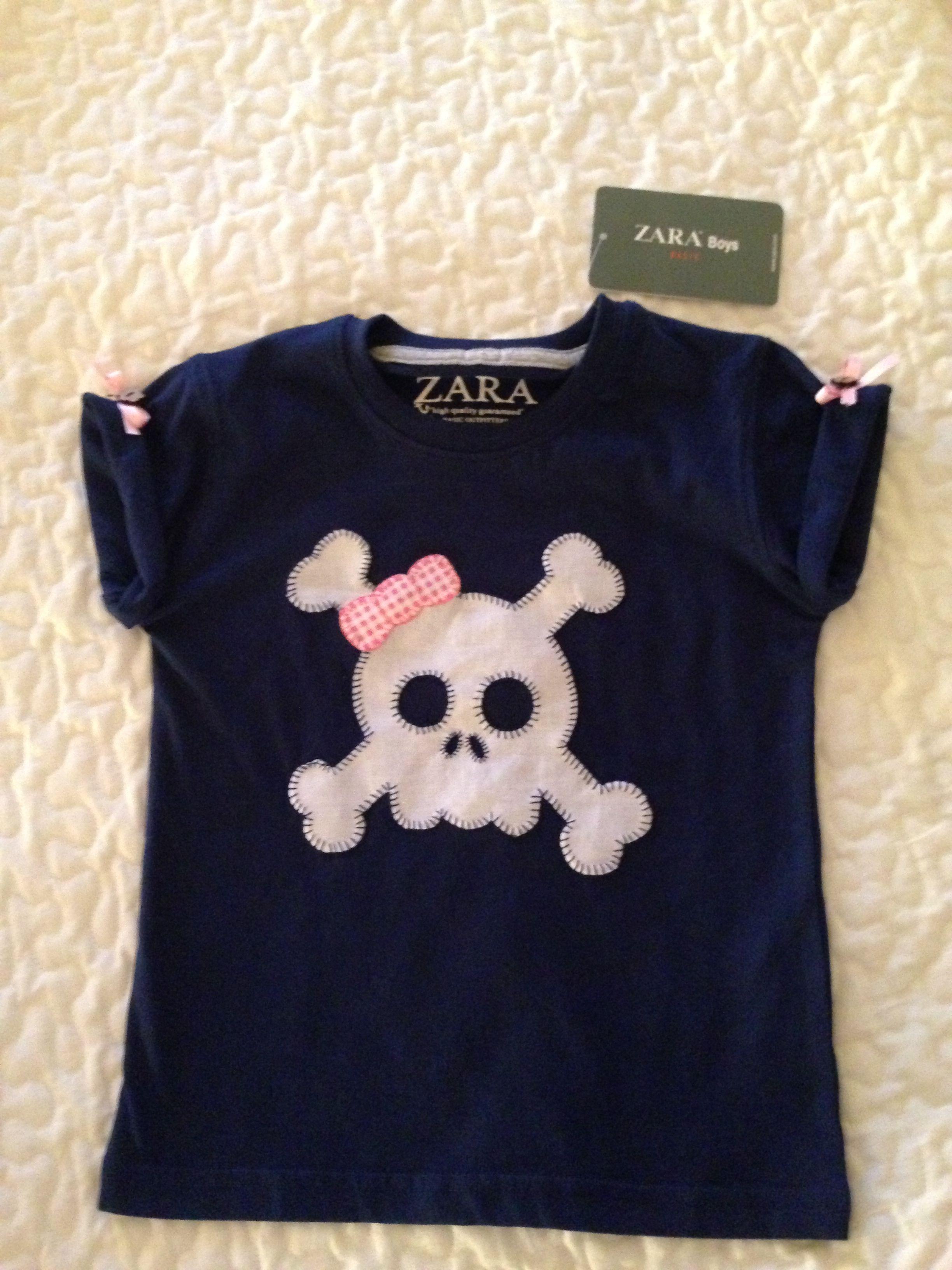 mejor calidad comprar baratas envío complementario Camiseta niña calavera | apliques | Camisetas, Camisetas ...