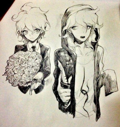 white hair, super danganronpa 2, and cute anime boy image
