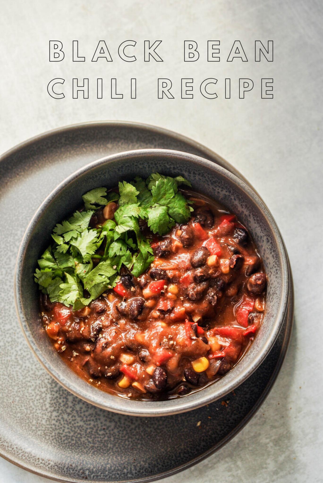 Black Bean Chili Recipe This Healthy Table Recipe Chili Recipe With Black Beans Bean Chili Recipe Easy Black Bean Chili Recipe