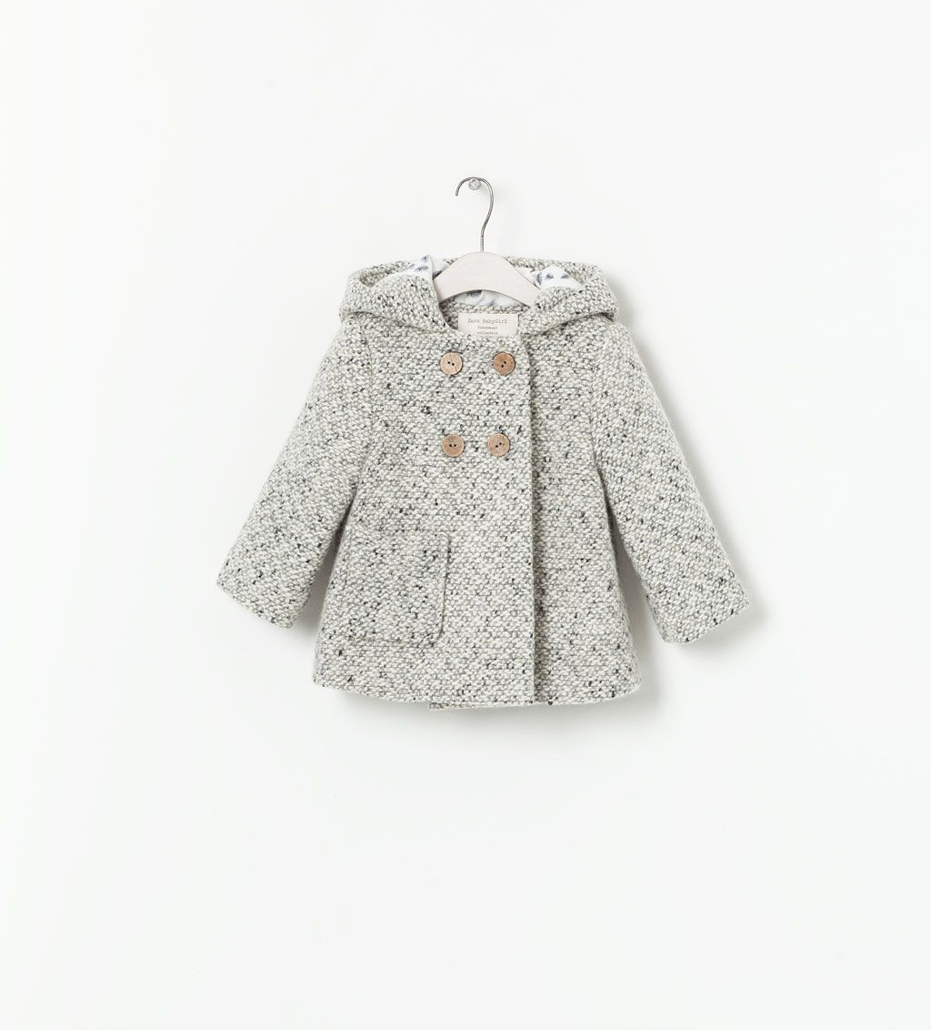 Image 1 of HOODED COAT WITH EARS from Zara