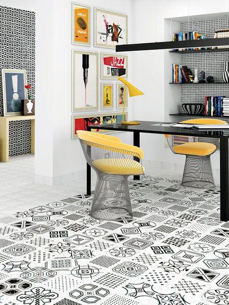 Zona De Trabajo O Comedor Con Suelo Hidráulico Ceramic Floor Tiles Porcelain Tile