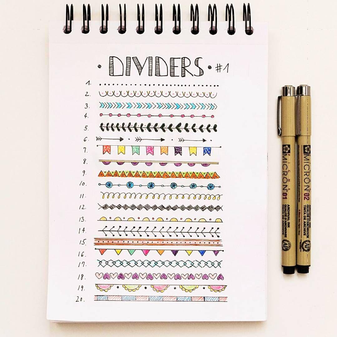 Dividers by miya mimitsudoodles on instagram buj dodles