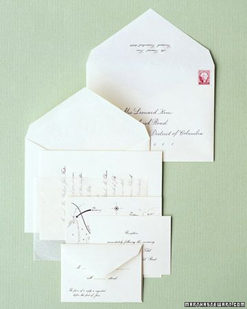 how to assemble the wedding invitation and how to place the, Wedding invitations