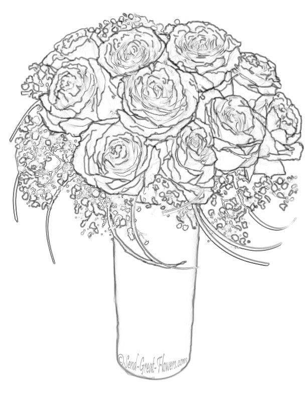 Roses Coloring Pages For Adults Concept