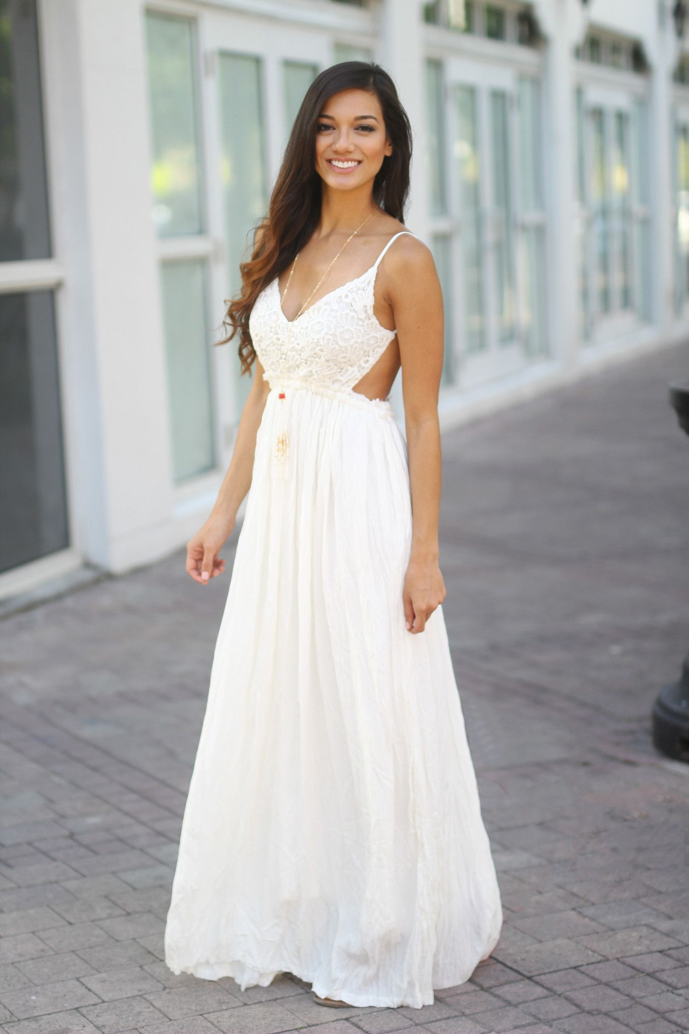 7d0fe6a09ce7 Our best seller maxi dress is back! This super elegant and amazing White  Lace Maxi Dress with Open Back is perfect for any special occasion! We love  its ...