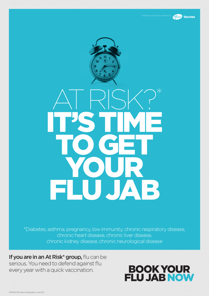 Flu Poster At Risk Pfizer Flu Who Flu Poster Campaign