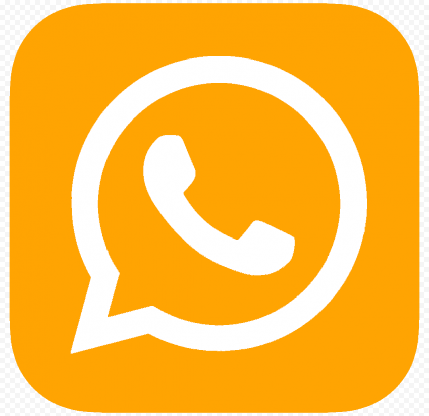 Hd Orange White Whatsapp Wa Square Logo Icon Png Square Logo Logo Icons Logos