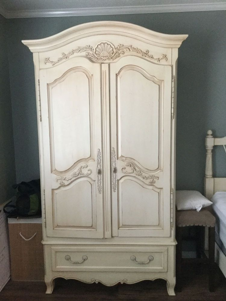 Armoire Beautiful French Country Painted Ivory Wardrobe By Ethan