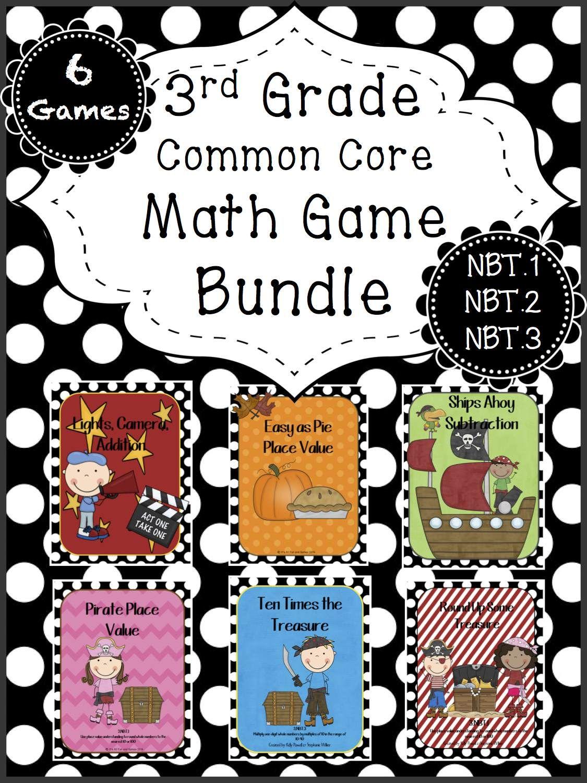 Math Game Bundle Place Value Addition Subtraction