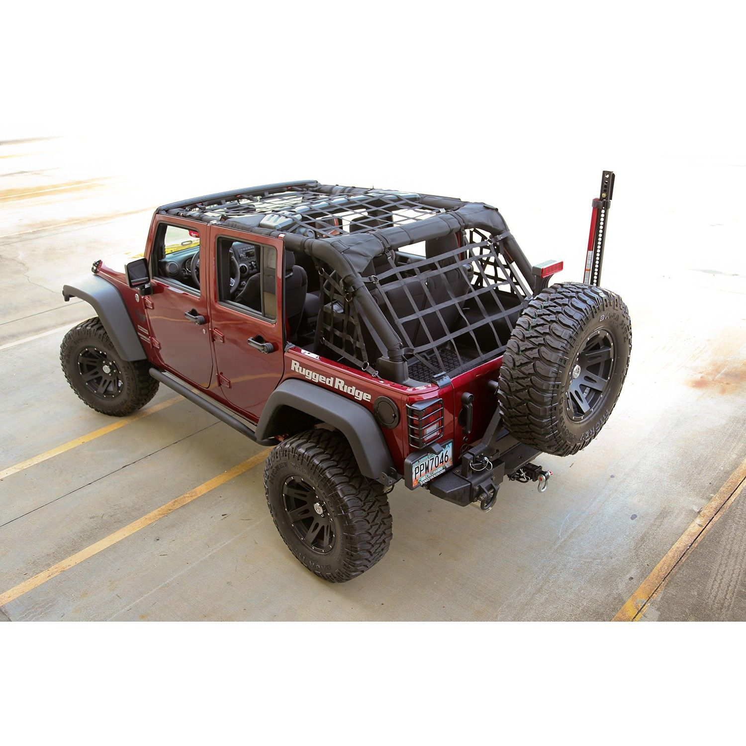 Rugged Ridge 13552 71 Cargo Net Black 4 Door 07 15 Jeep