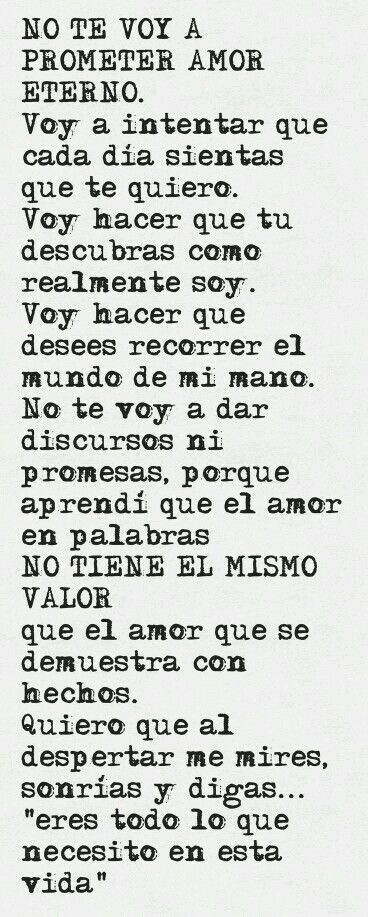 No Te Voy A Prometer Amor Eterno Frases De Amor