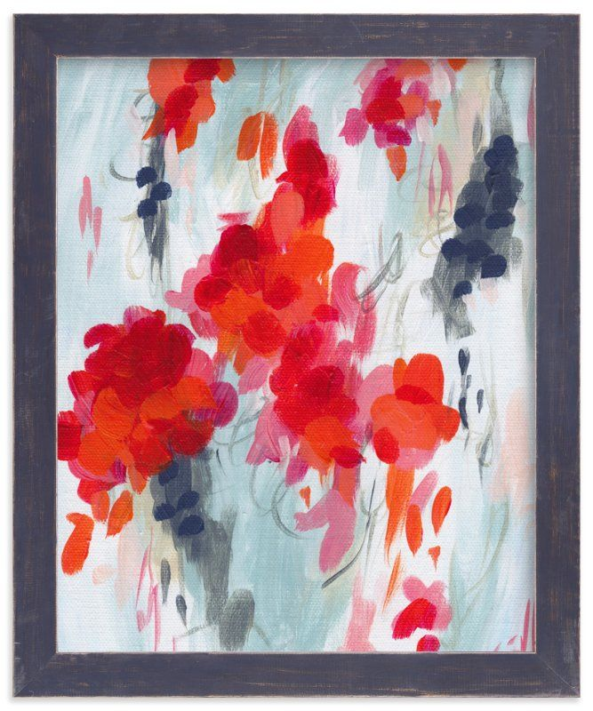 Walls · poppies i art print by iron range artery in beautiful frame options and