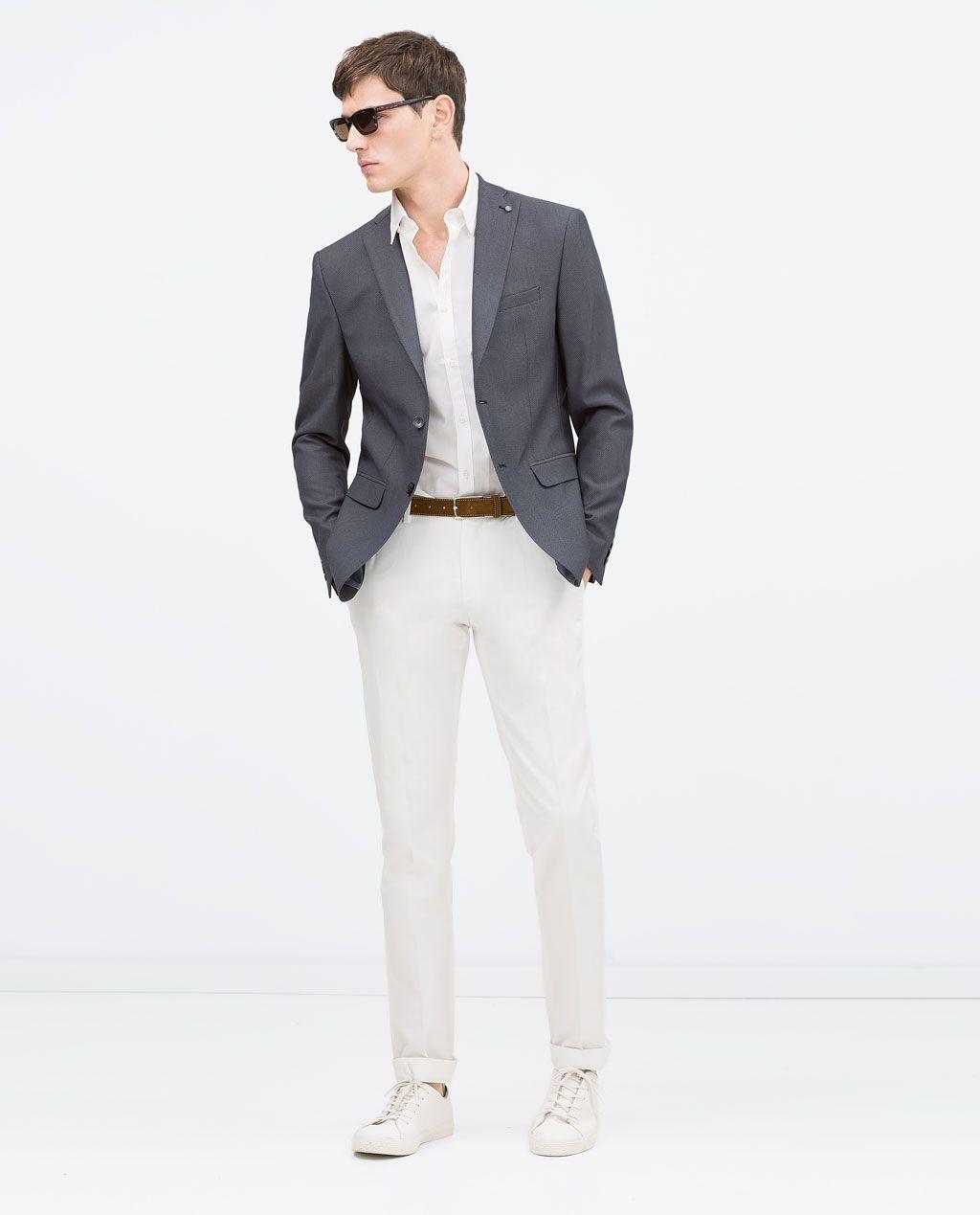 33cc203a1455 Image 1 de BLAZER AVEC COUDIÈRES de Zara Mode Masculine