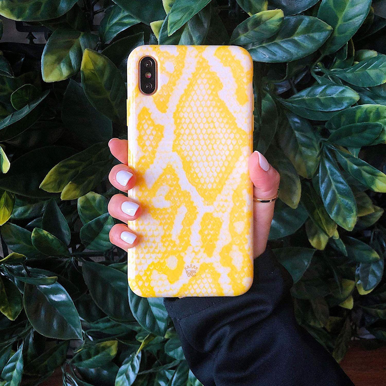 Velvet Caviar Yellow Snake Skin IPhone 11 Case  – beautiful iphone cases
