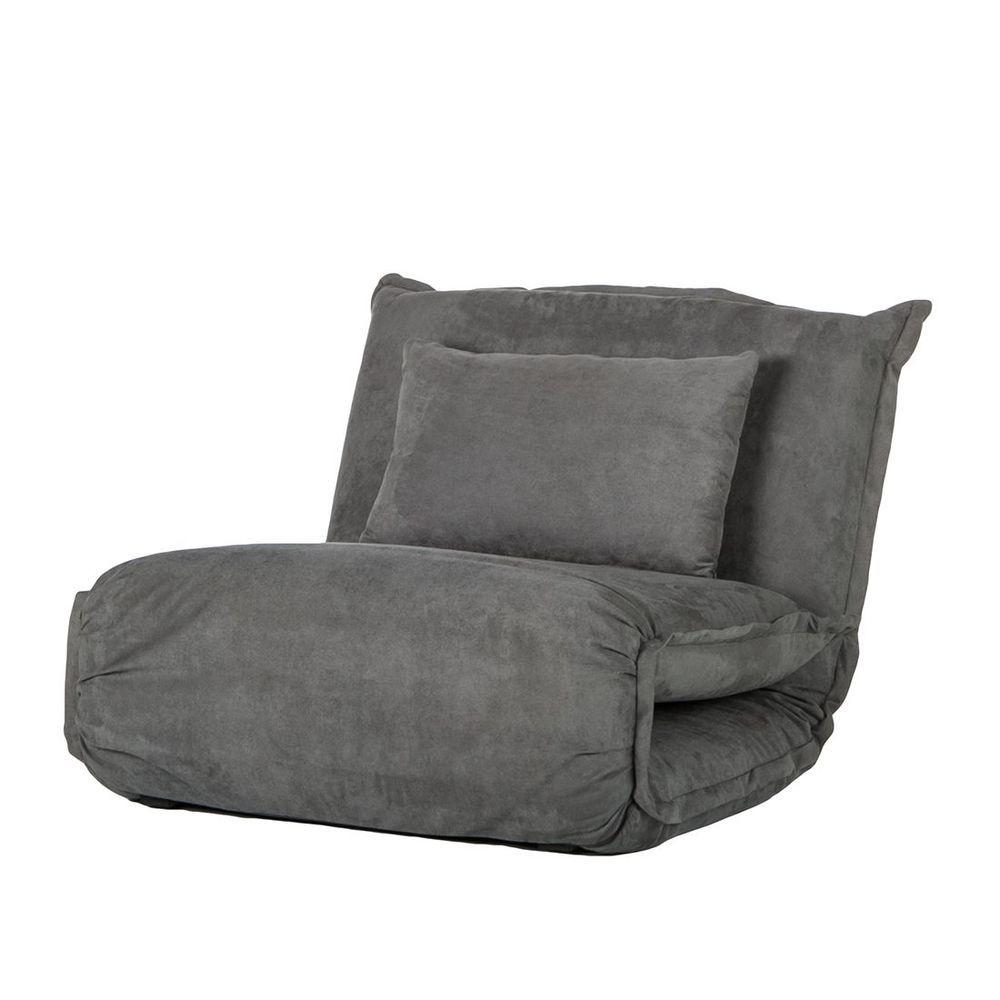 Schlafsessel Webstoff Grau Schlafcouch Schlafsofa Gastebett Sessel