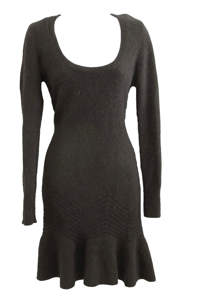 VICTORIA'S SECRET POINTELLE ANGORA SWEATERDRESS size S ...