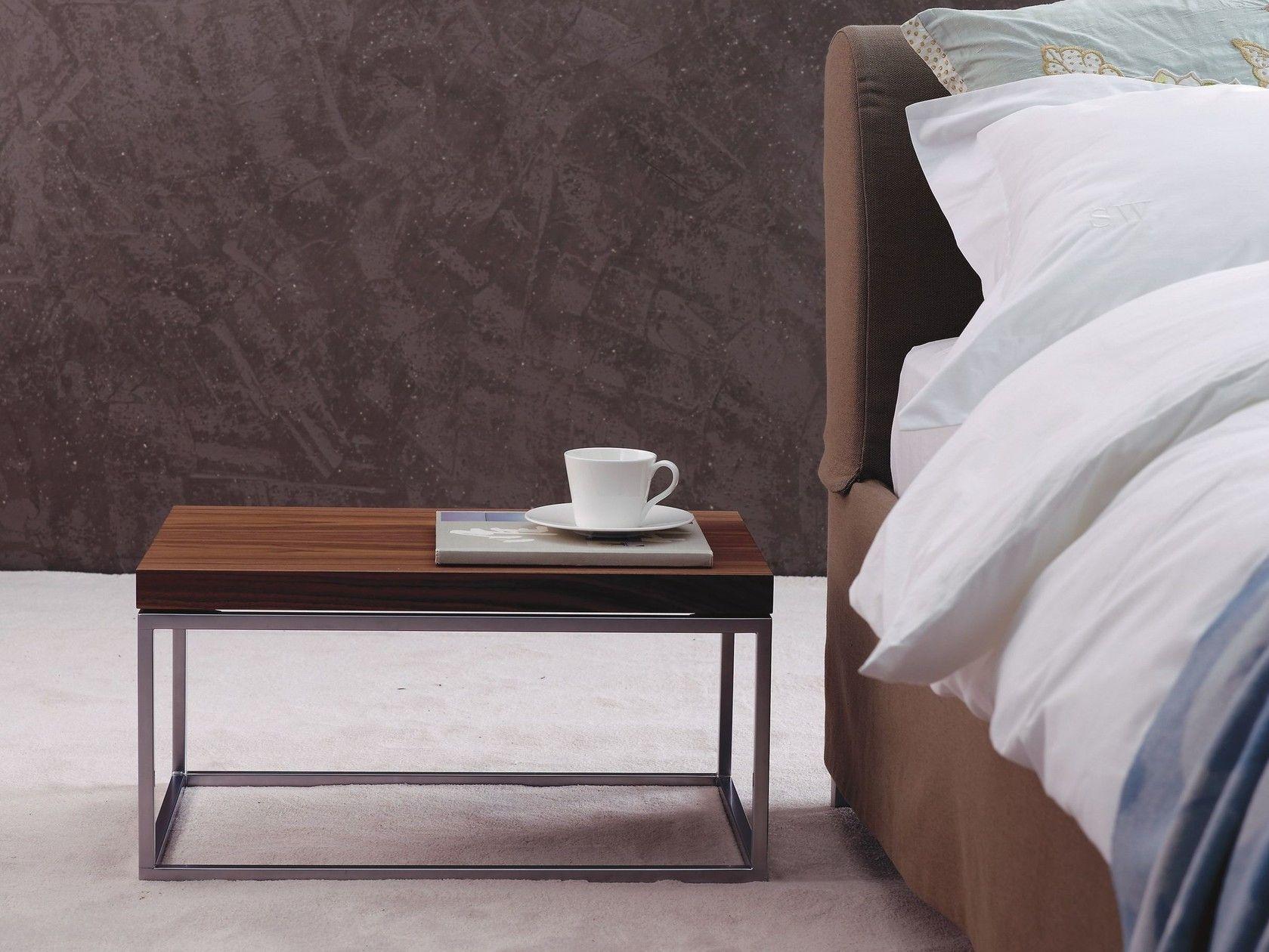 Schramm Werkstätten lacquered wooden bedside table with drawers bt 30 0 by schramm