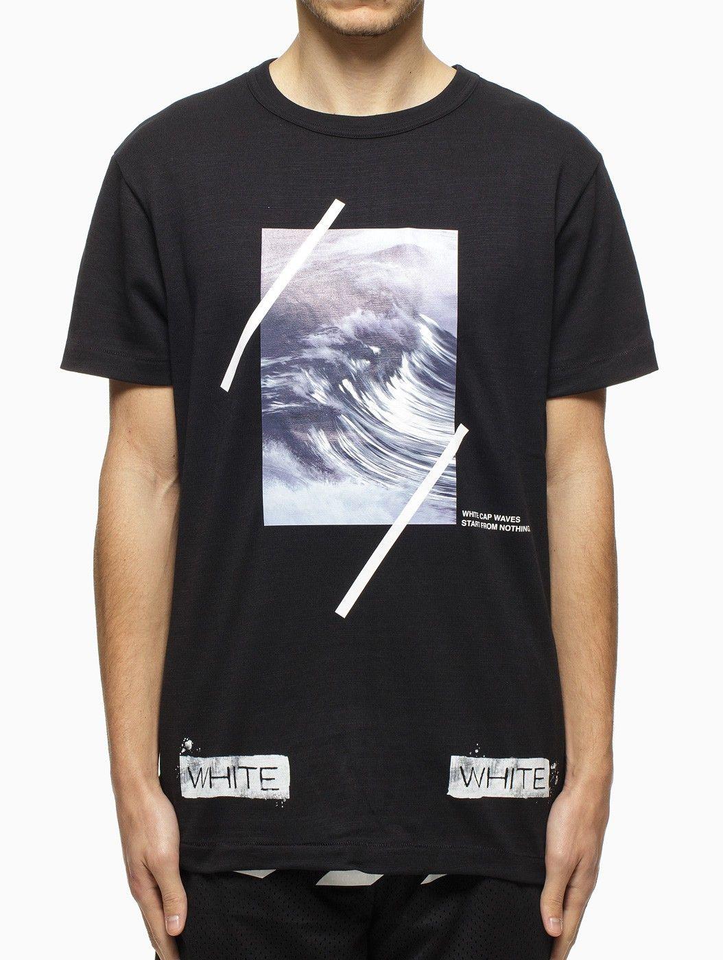 "76e0dd5d ""Waves"" t-shirt from the S/S2015 Off-White c/o Virgil Abloh collection in  black."