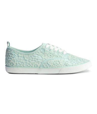 Sneakers met kant | Mintgroen | Kinderen | H&M NL