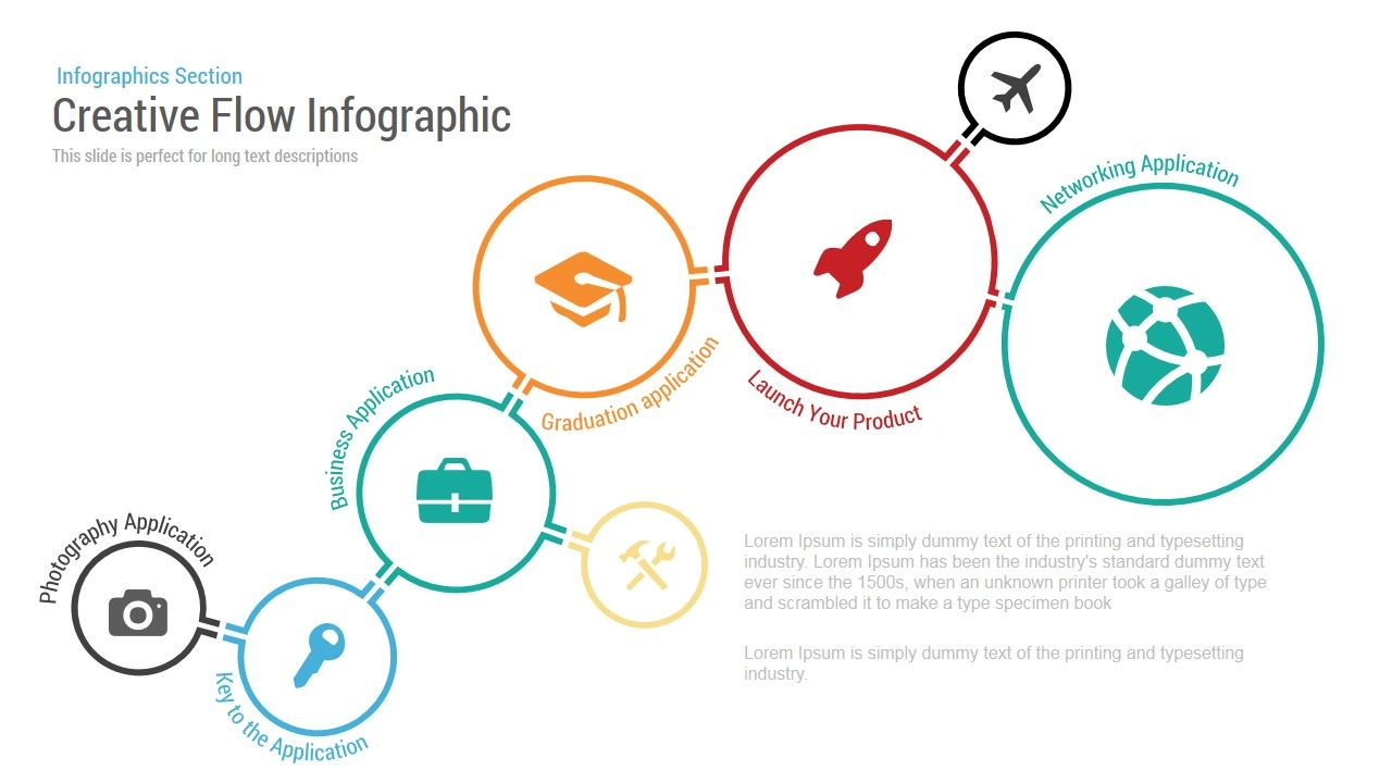 creative flow infographic powerpoint template [ 1280 x 720 Pixel ]