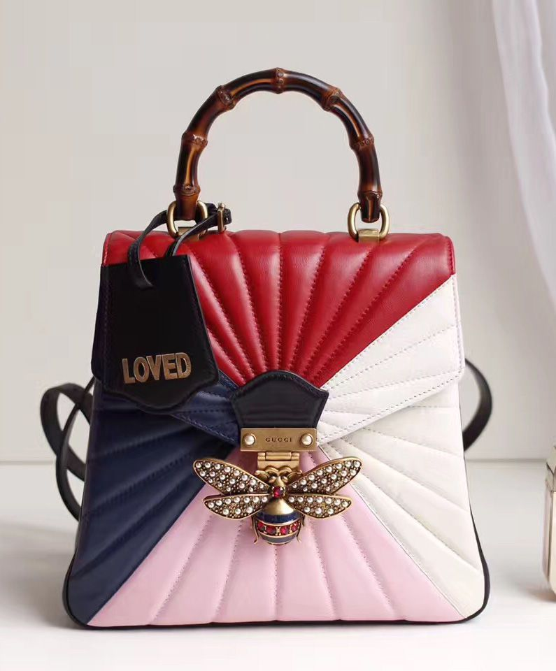 aca0cb73ab93 Gucci Queen Margaret Quilted Leather Top Handle Bag 476531  gucci  handbags