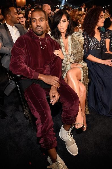 Update Kanye West Wore A Haider Ackermann Sweatsuit With His Adidas Yeezy Sneakers At The Grammys Kanye West Style Kanye West And Kim Kanye West