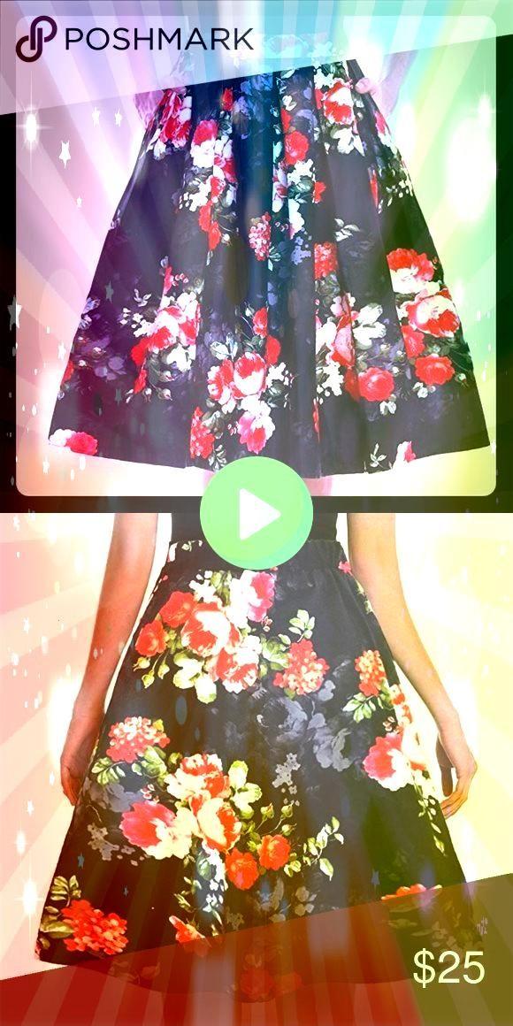 inspired Aline skirt XL Beautiful Aline midi skirt has a vintage feel  My Posh Picks Vintage inspired Aline skirt XL Beautiful Aline midi skirt has a vintage feel  My Pos...