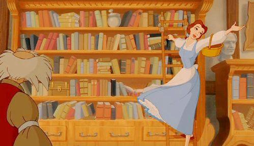 Risultati immagini per libreria de la bella y la bestia