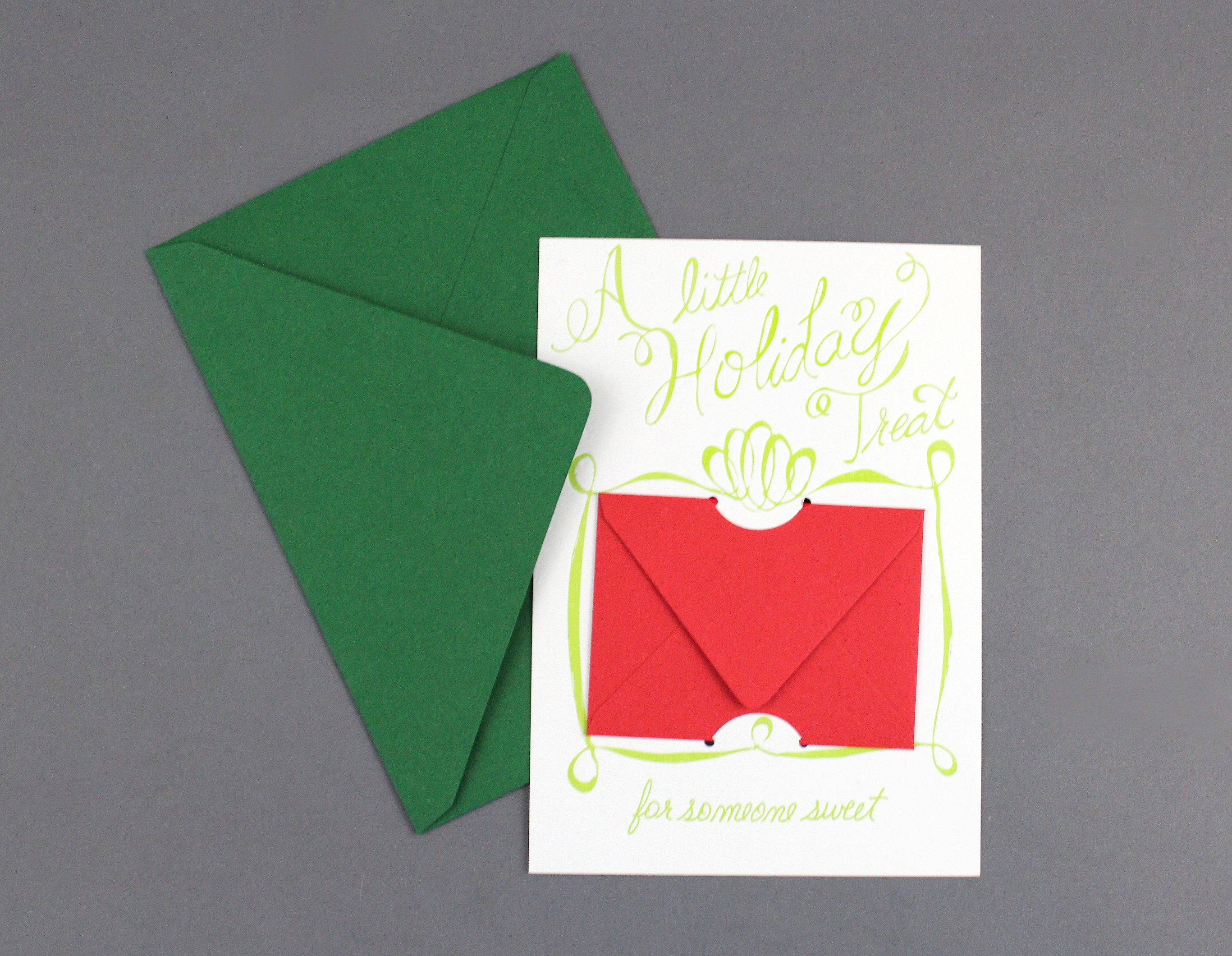 A little holiday treat for someone sweet letterpress holiday gift holiday treat greeting card gift card holder letterpress m4hsunfo