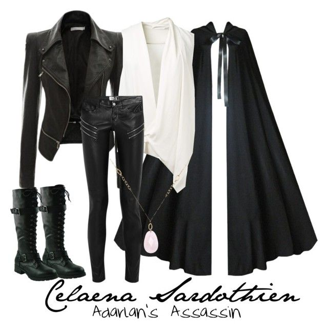 """""""Celaena Sardothien (Throne of Glass)"""" by artist-demigod ❤ liked on Polyvore featuring Victoria Beckham, Yves Saint Laurent, White House Black Market, women's clothing, women's fashion, women, female, woman, misses and juniors"""