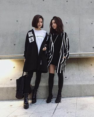 Street style Korean outfits for teenage girls